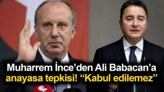 Babacan'a ilk 4 madde tepkisi